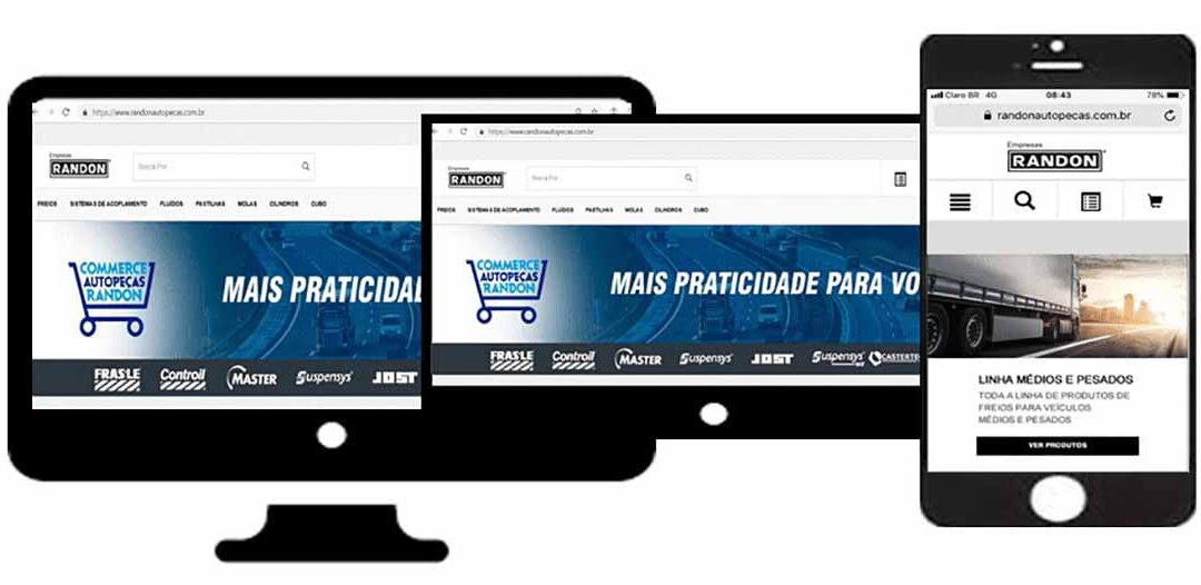 Nova plataforma de e-commerce integra todas as marcas do grupo Randon